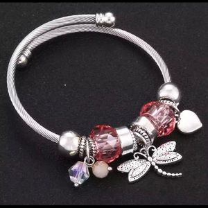 Jewelry - Dragonfly Snake Chain Charm Bracelet NEW